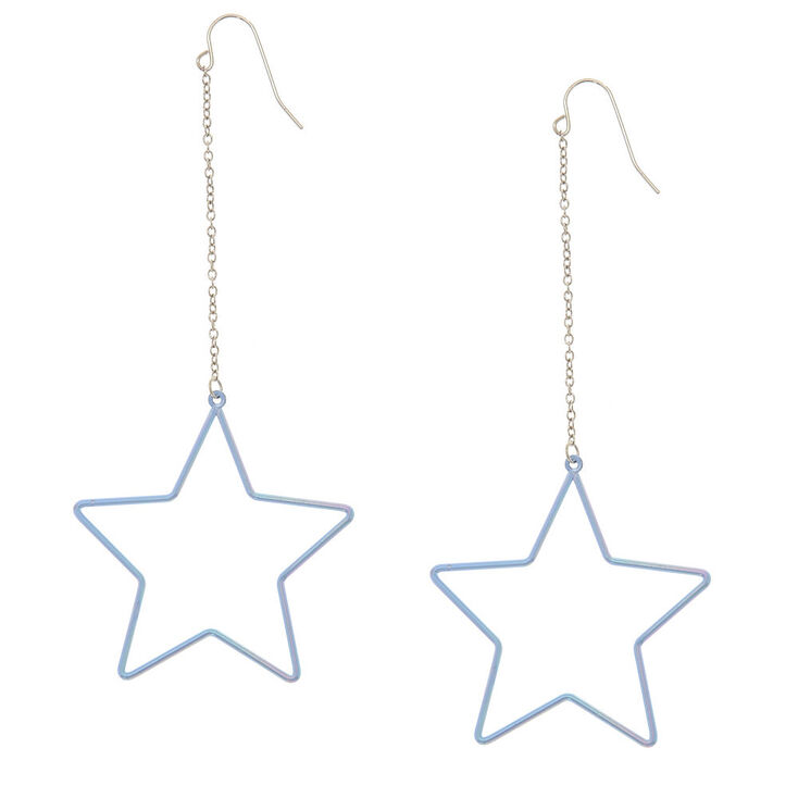 Lilac Star Hoop Earrings,