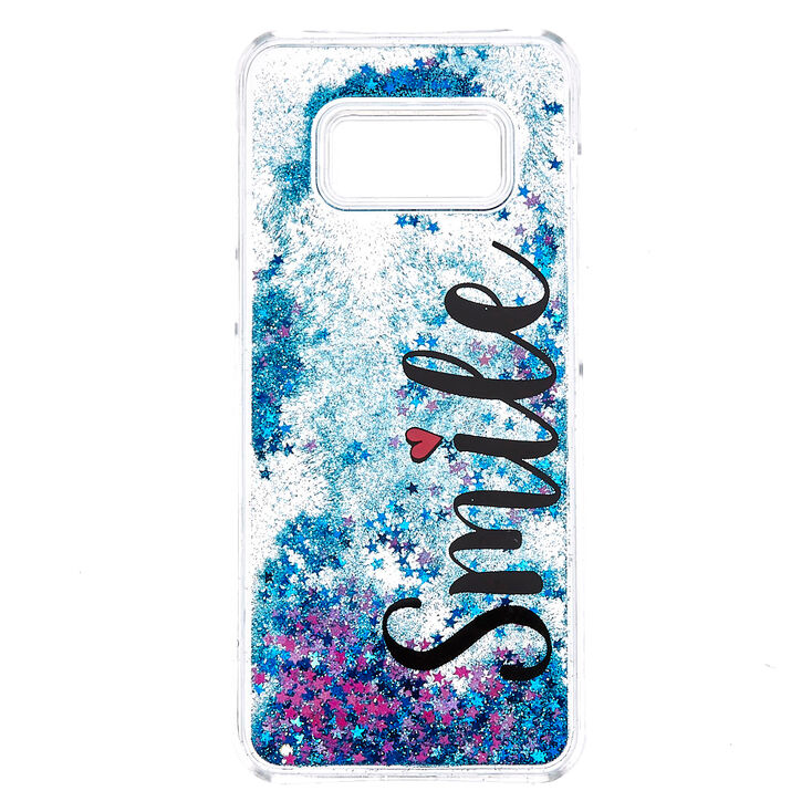 Smile Liquid Fill Stars Phone Case - Fits Samsung Galaxy S8,