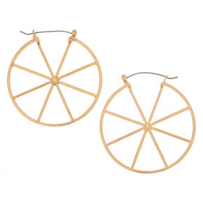 Gold 50MM Wheel Hoop Earrings,