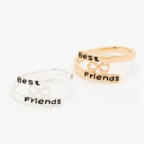 Mixed Metal Best Friends Infinity Sandwich Rings - 2 Pack,
