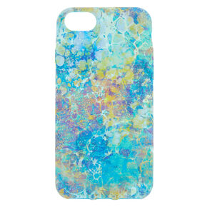 Water Color Marble Phone Case - Turquoise,