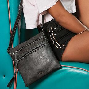 Midi Passport Crossbody Bag - Black,