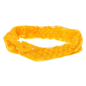 Lace Headwrap - Mustard,