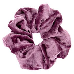 Velvet Hair Scrunchie - Lilac Purple,