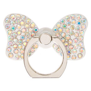 White Stone Studded Bow Ring Stand,