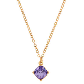 June Birth Stone Pendant Necklace - Light Amethyst,
