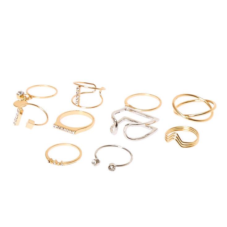 Mixed Metal Multi Pack Rings,