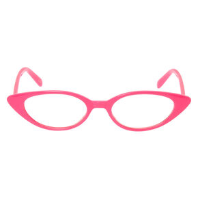 Cat Eye Clear Lens Frames - Pink,