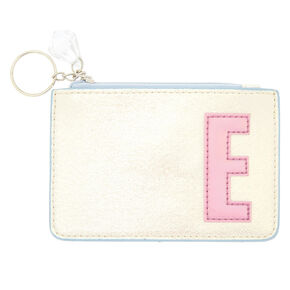 Pearlescent Initial Coin Purse - E,