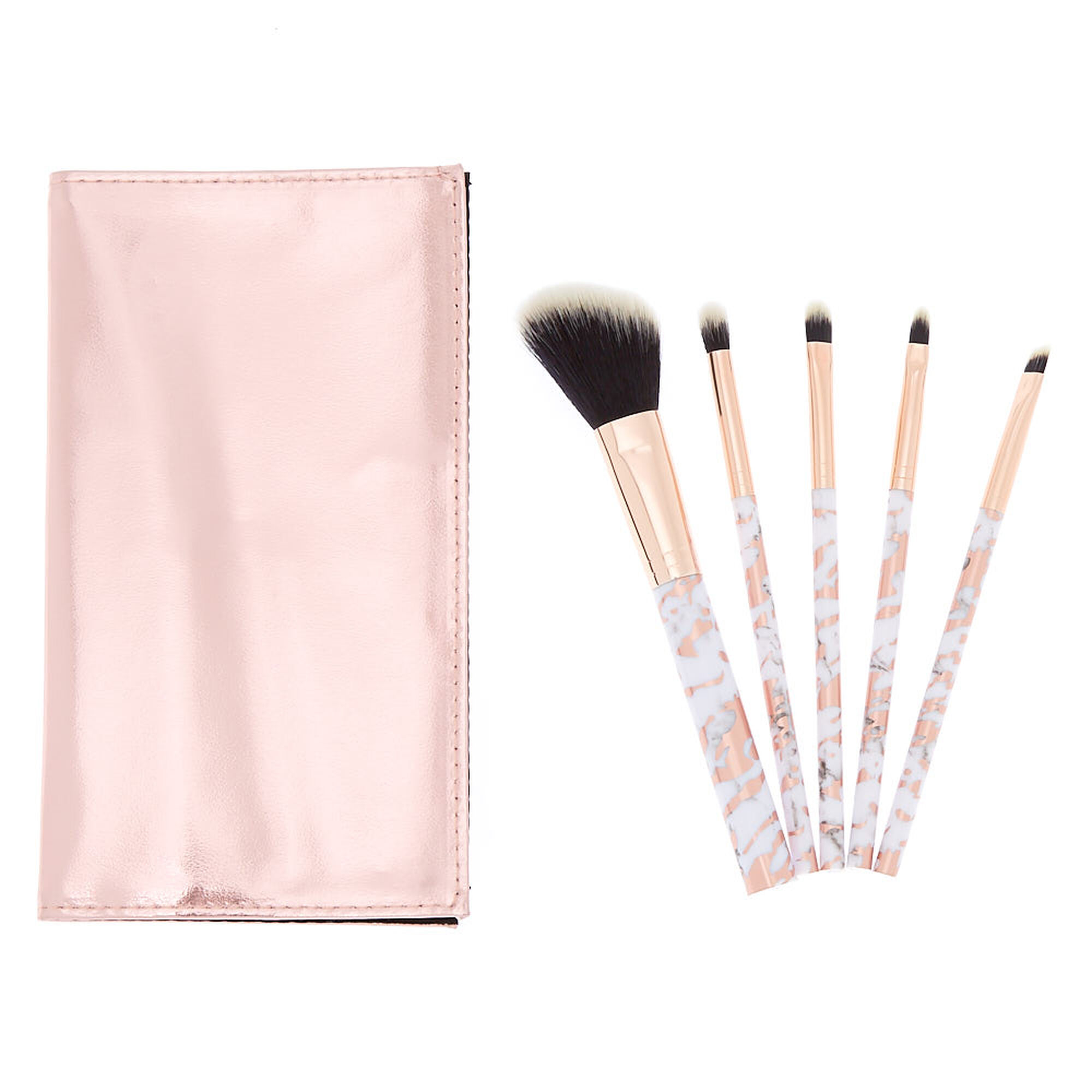 Marble Makeup Brush Set Rose Gold 5 Pack Icing Us