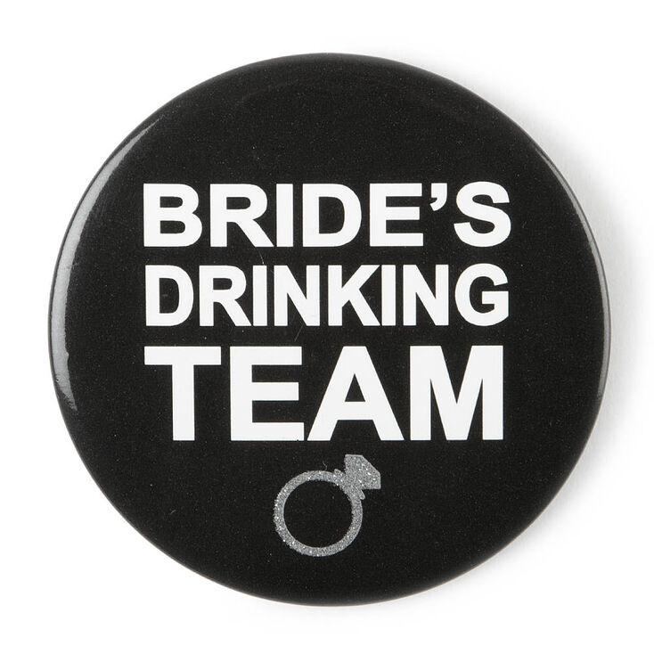 Bride's Drinking Team Button,