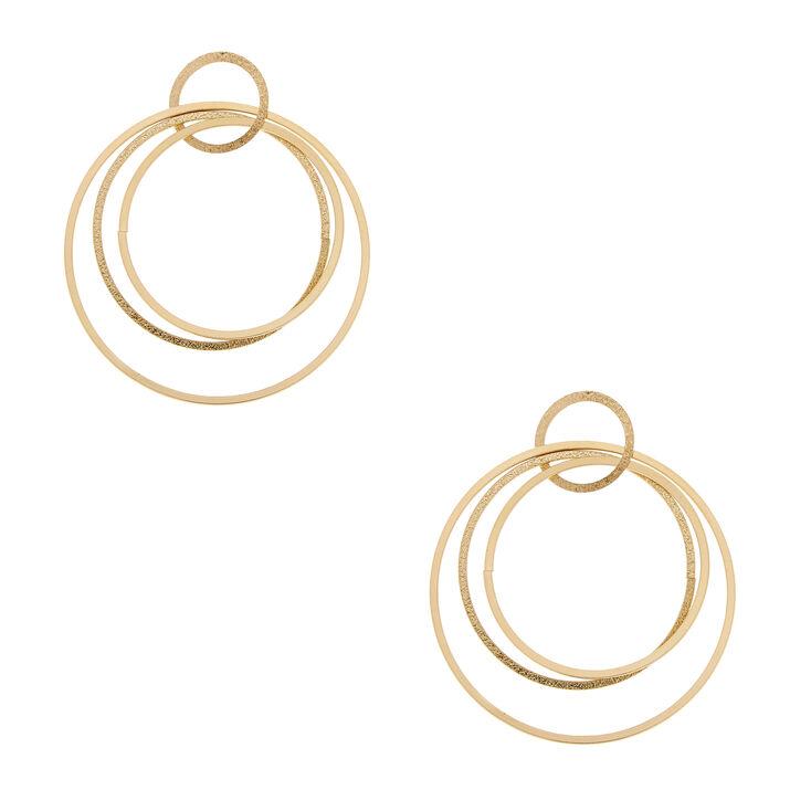 Circle Link Drop Earrings,