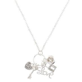 Silver Romantic Charm Pendant Necklace,