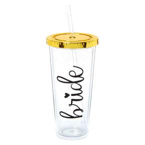 Glitter Bride Tumbler Cup - Gold,