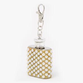 Pearl Mini Flask Keychain - Silver,