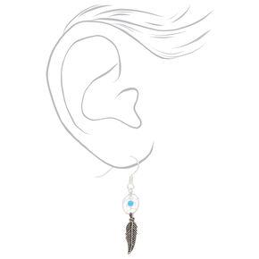 Sterling Silver Dreamcatcher Drop Earrings,