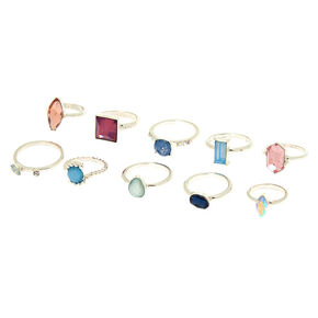 Romantic Bling Multi-Size Rings - 10 Pack,