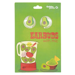 Gabba Goods® Avacado Earbuds With Mic - Green,