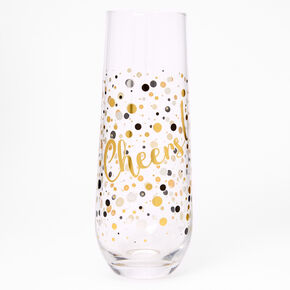 Cheers Stemless Champagne Glass,