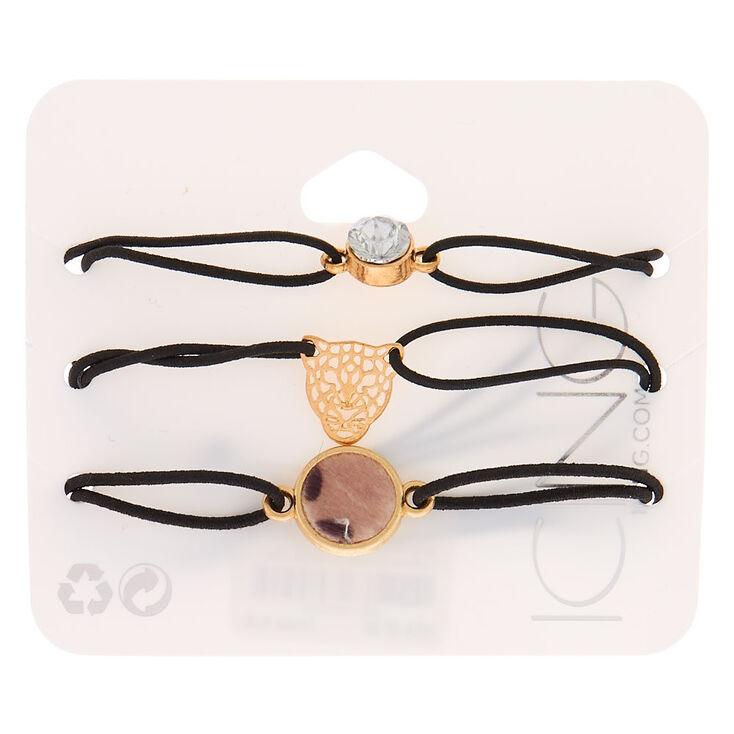 Fierce Leopard Stretch Bracelets - 3 Pack,