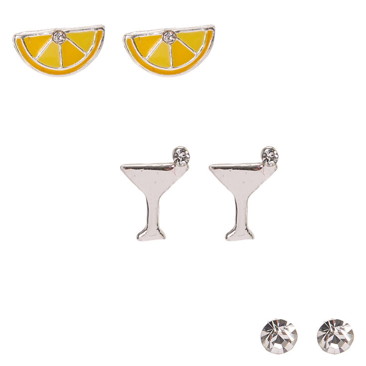 925 Sterling Silver Happy Hour Earrings,
