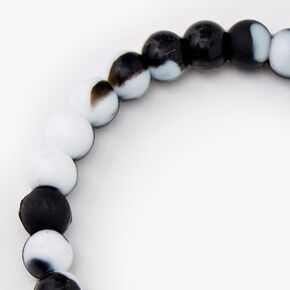 Black & White Courage Fortune Stretch Bracelet,