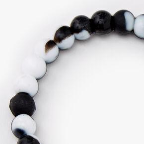 Black & White Courage Fortune Stretch Bracelet,