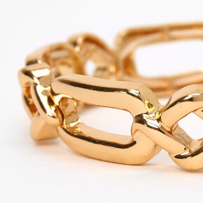 Gold Chunky Knots Stretch Bracelet,