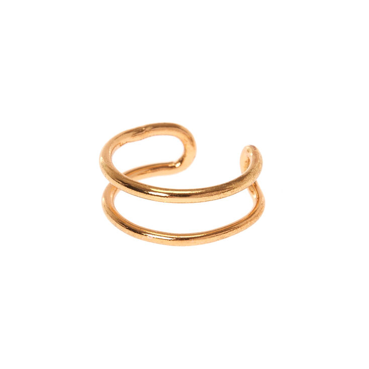 Double Up Gold Faux Lip Ring,