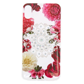 Floral Bling Mandala Phone Case - Fits iPhone X/XS,