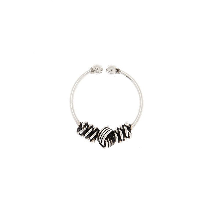 Sterling Silver Chunky Faux Nose Ring,
