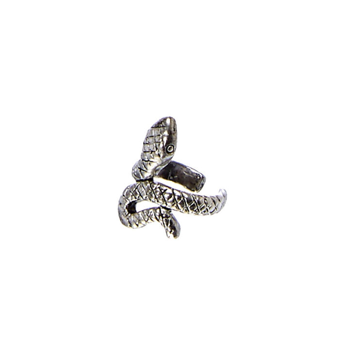 Burnished Silver Tone Snake Ear Cuff,