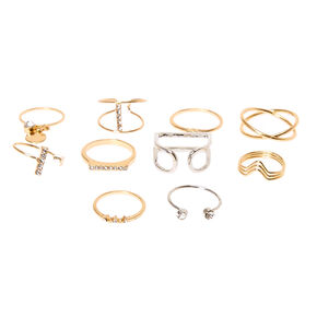Mixed Metal Multi Pack Rings,