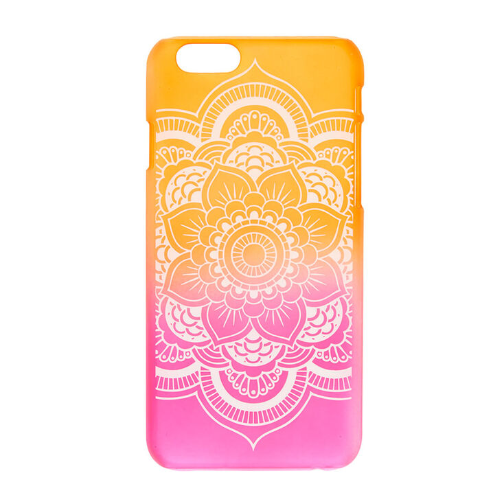Frosted Ombre Mandala Phone Case - Fits iPhone 6/6S,