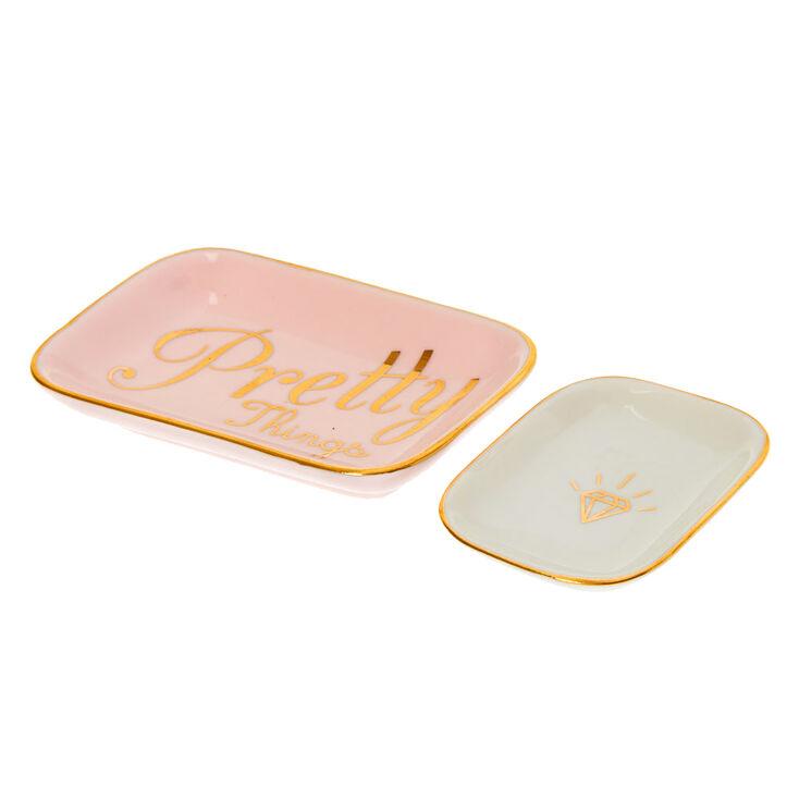 Pretty Things Trinket Tray Set - 2 Pack,
