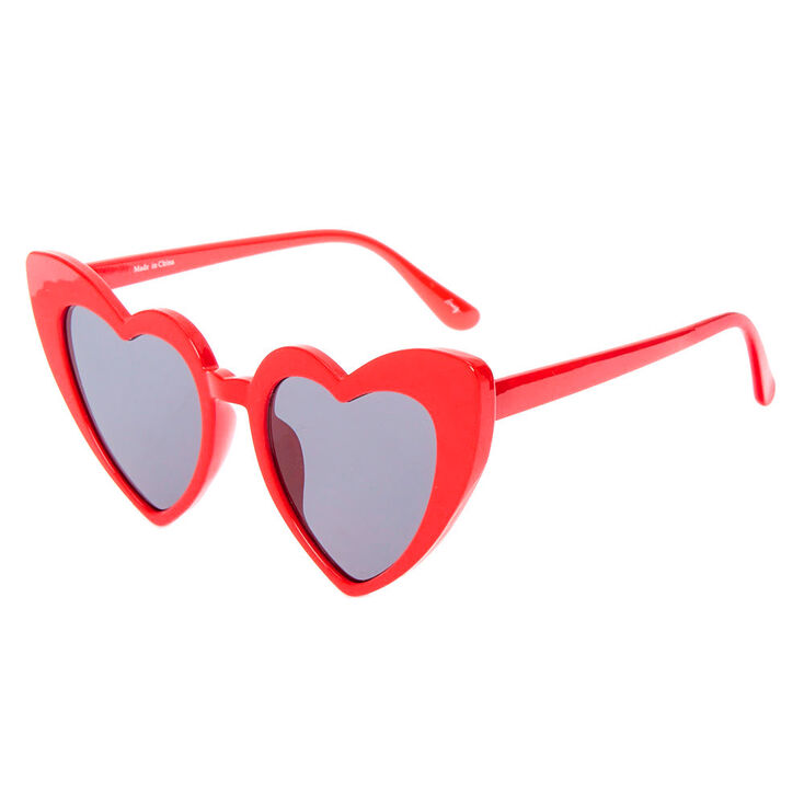 Valentines Day Dresses, Outfits, Lingerie | Red Dresses Icing Heart Sunglasses - Red $8.99 AT vintagedancer.com