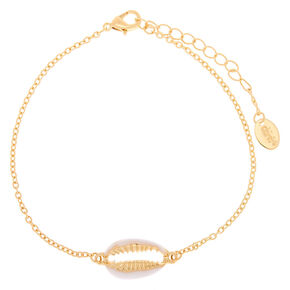 Gold Puca Shell Anklet,