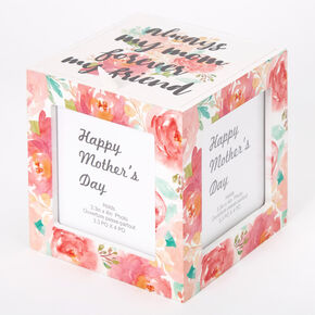 Always My Mom Forever My Friend Floral Photo Cube - Pink,