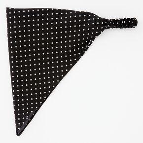 Black & White Polka Dot Head Scarf,