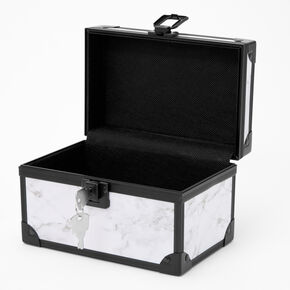 Black and White Marble Lock Box,