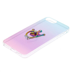 Glitter Ombre Ring Holder Phone Case - Fits iPhone 6/7/8 Plus,