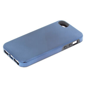 Metallic Navy Protective Phone Case - Fits iPhone 5/5S/SE,
