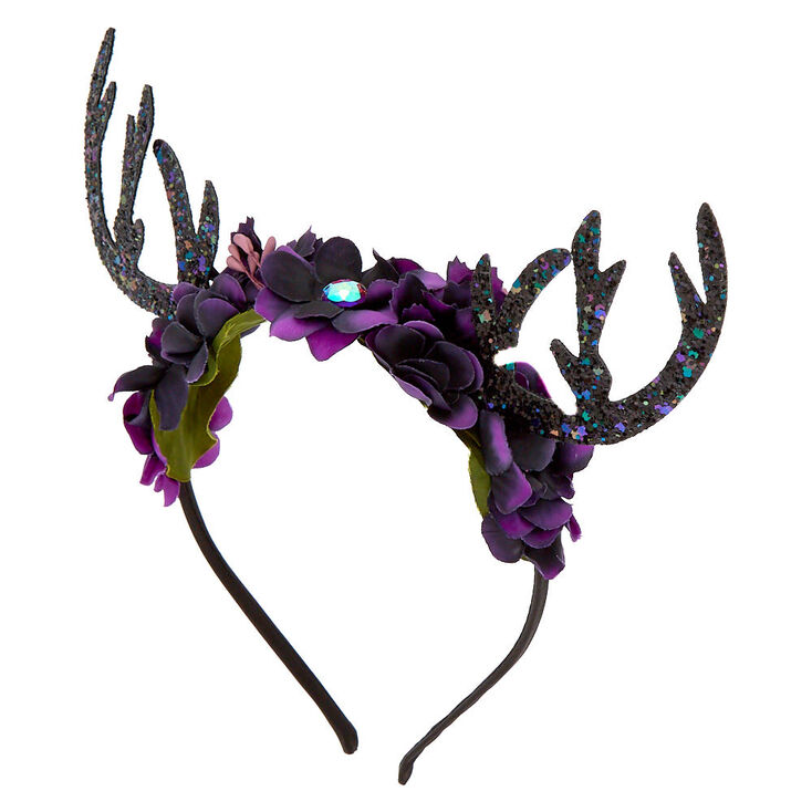 Space Deer Antlers Headband - Purple,