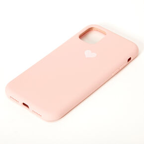 Blush Pink Heart Phone Case - Fits iPhone 11,