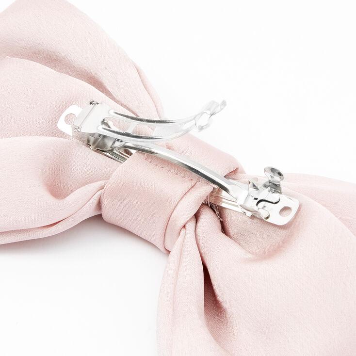 Large Hair Bow Clip - Blush Pink,