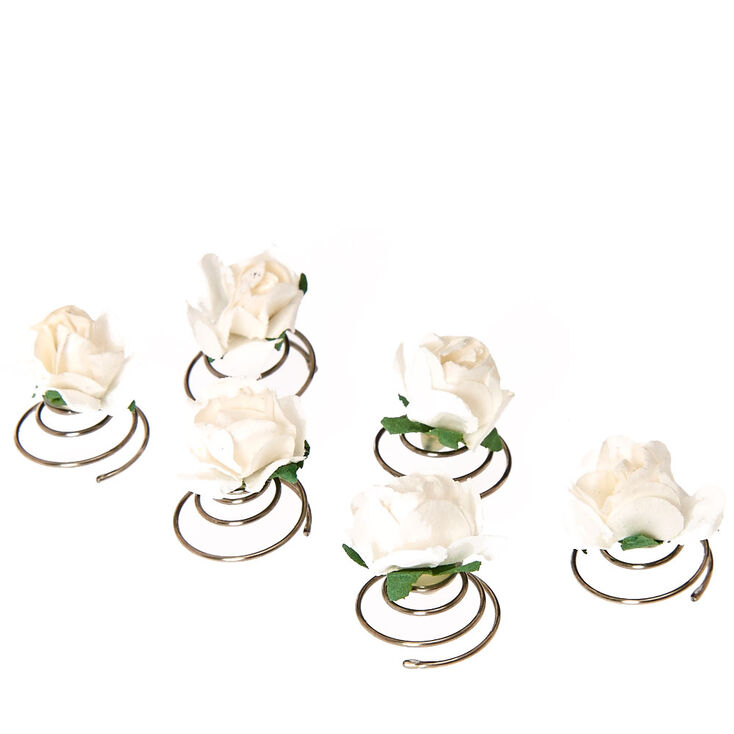 White Paper Rose Hair Spinners,