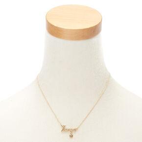 Gold Zodiac Pendant Necklace - Taurus,