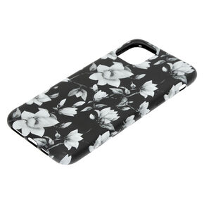 Black & White Floral Phone Case - Fits iPhone 11 Pro,