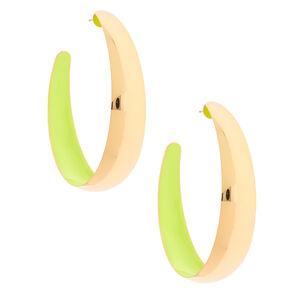 Gold 50MM Hoop Earrings - Yellow,
