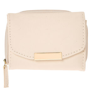 Nude Faux Leather Mini Wallet,